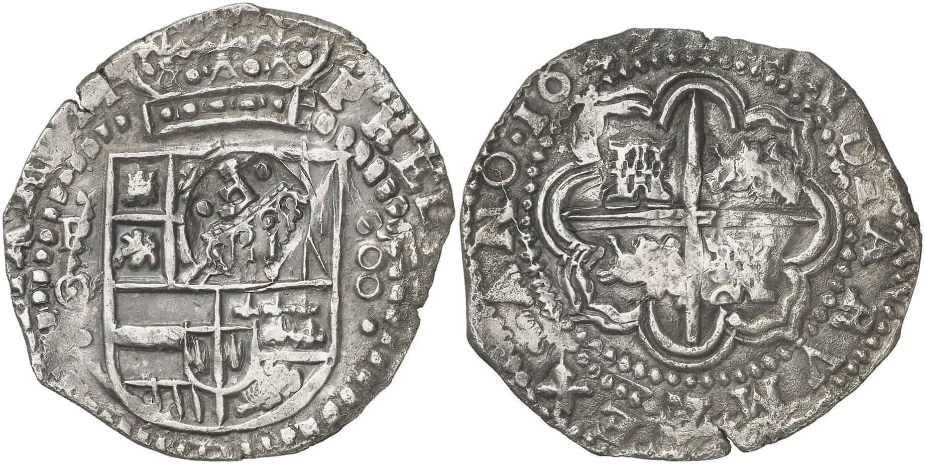 Potosí, 8 reales 1649, «rodasa»