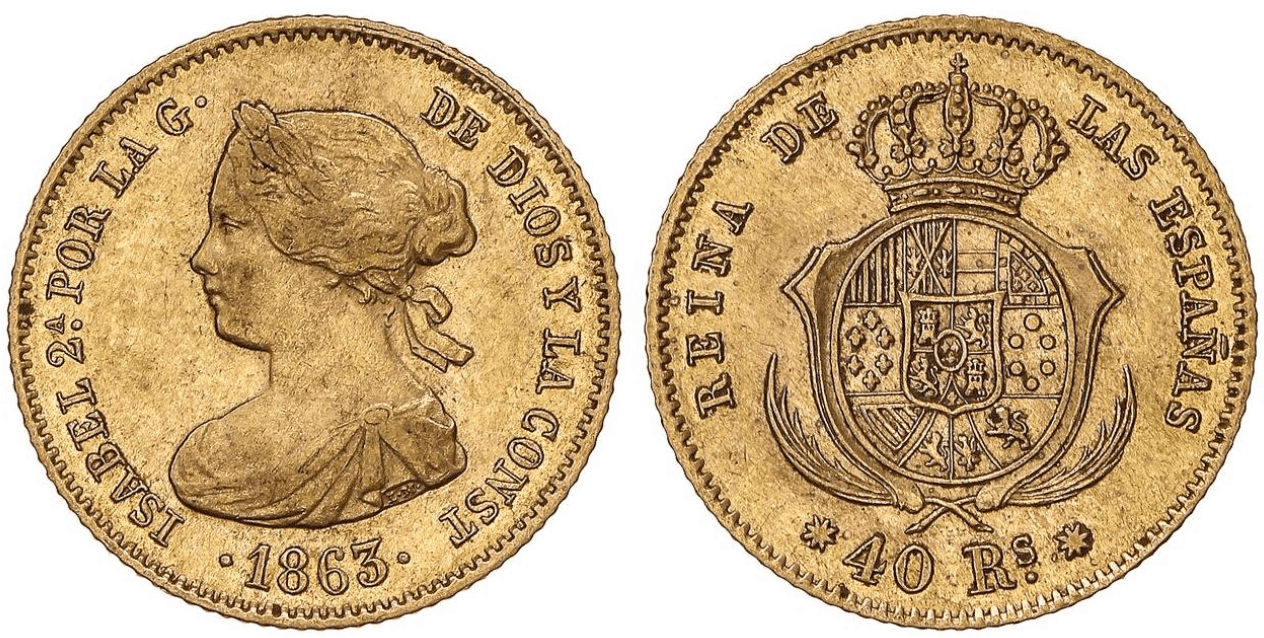 40 reales 1863, Barcelona