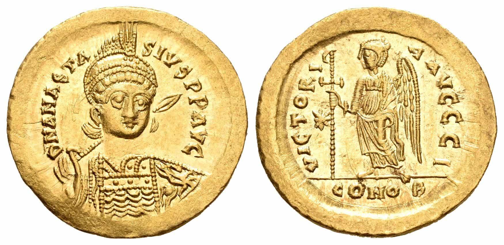 Sólido de Anastasio I, Constantinopla
