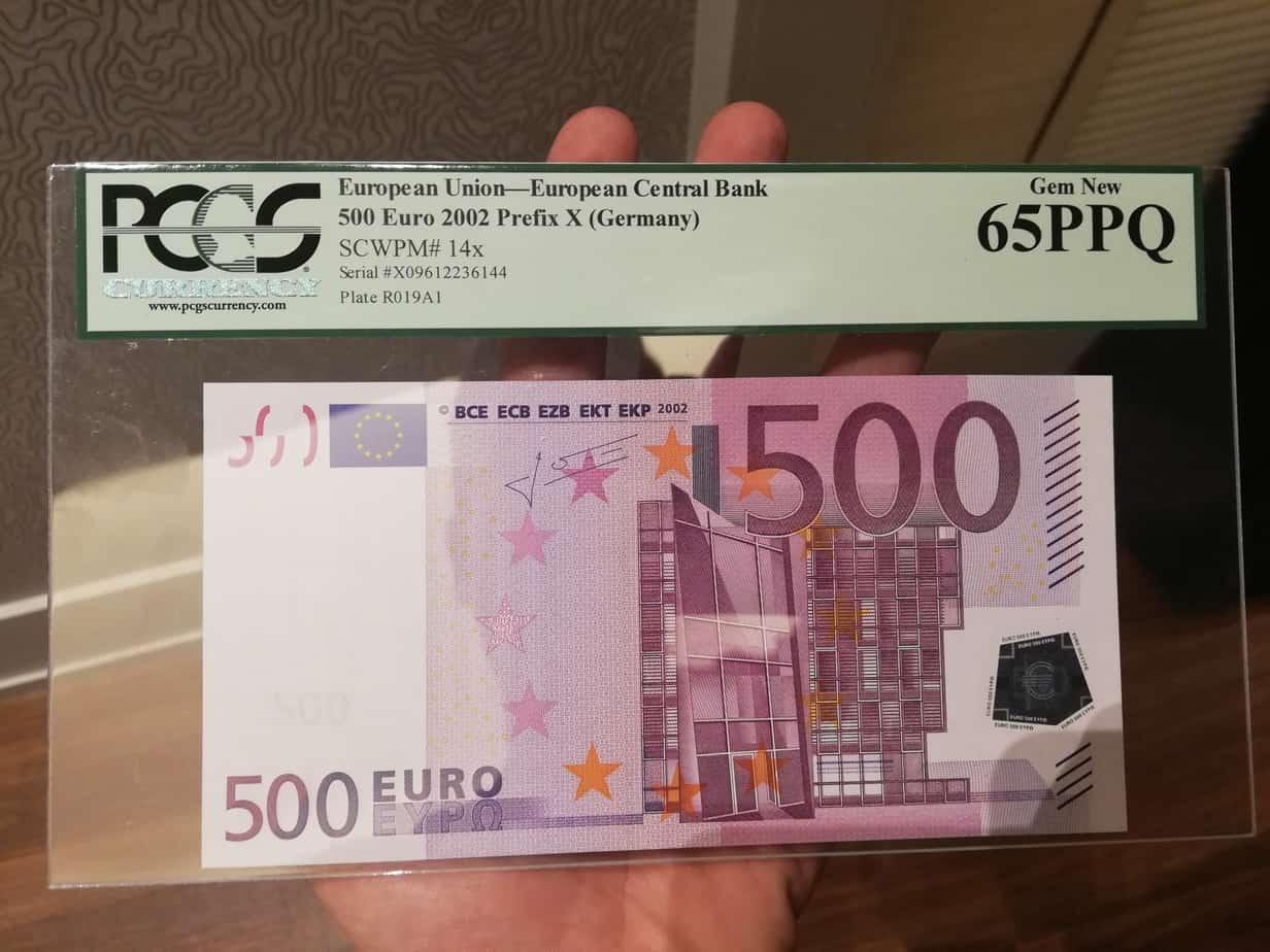 El coleccionismo de billetes de euros