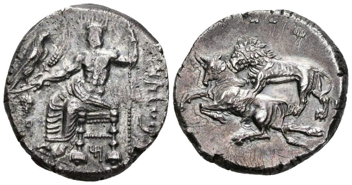 Estátera de Tarso con el dios Baaltars