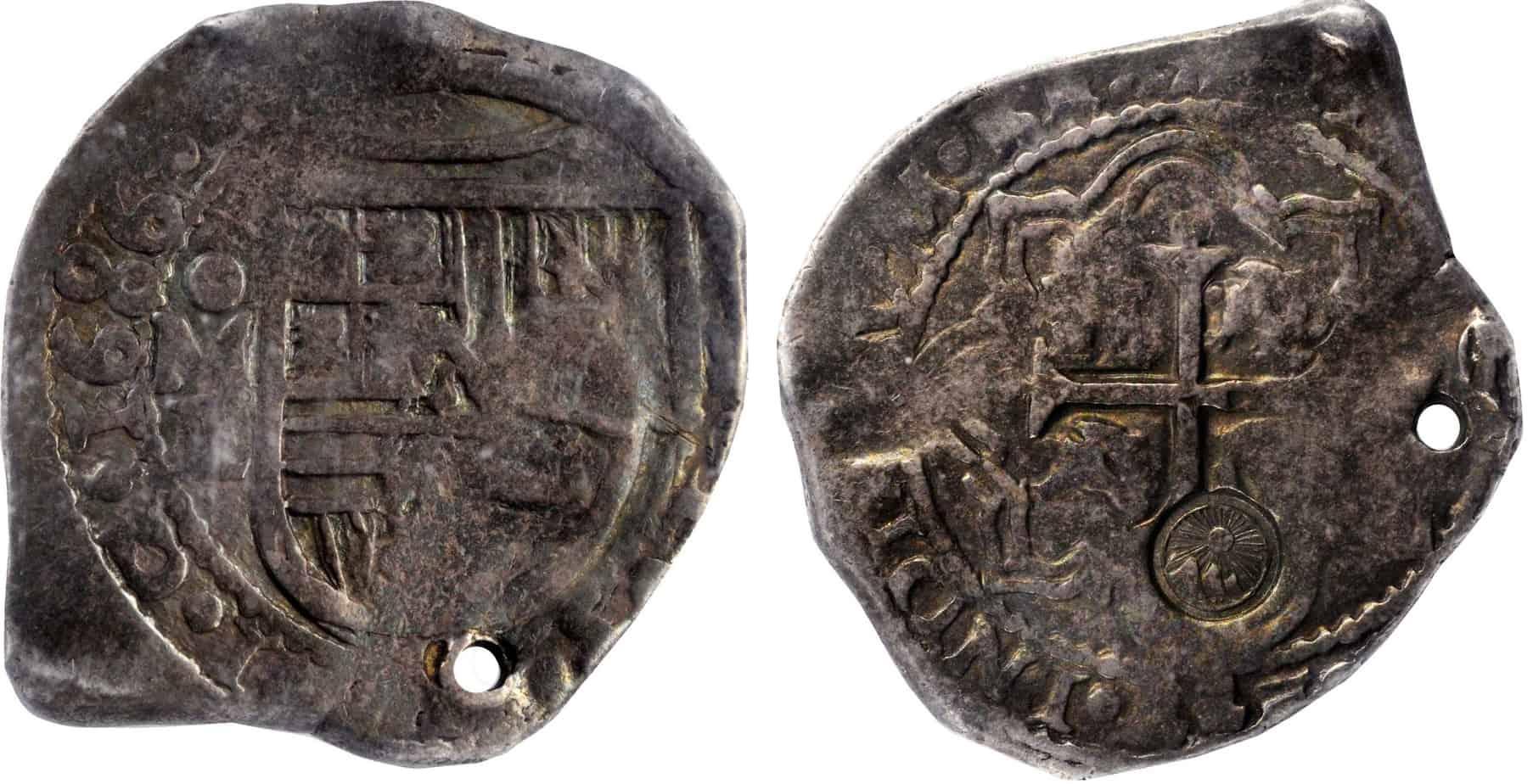 8 reales México 1686, resellado en Guatemala