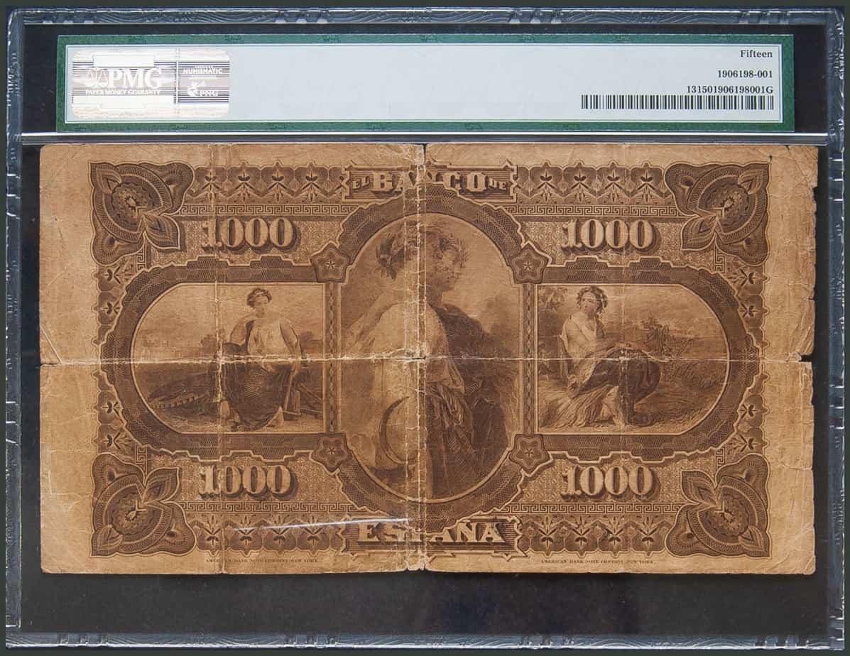 1000 pesetas 1876 Lope de Vega