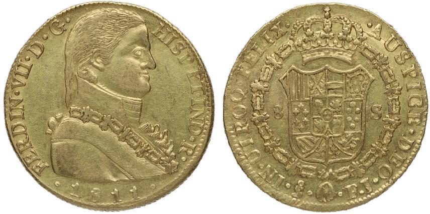 8 escudos de Santiago 1811