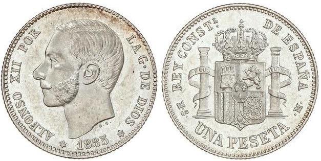 1 peseta 1885 (18-85)