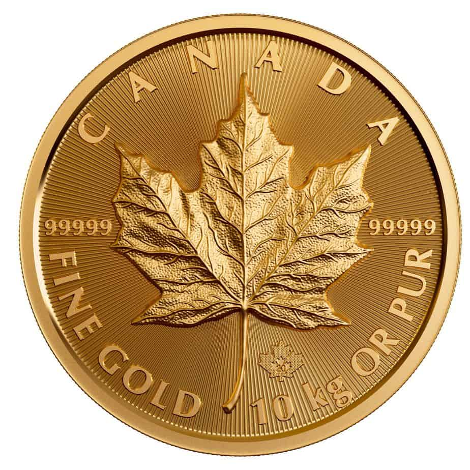 maple leaf, 10 kilos oro