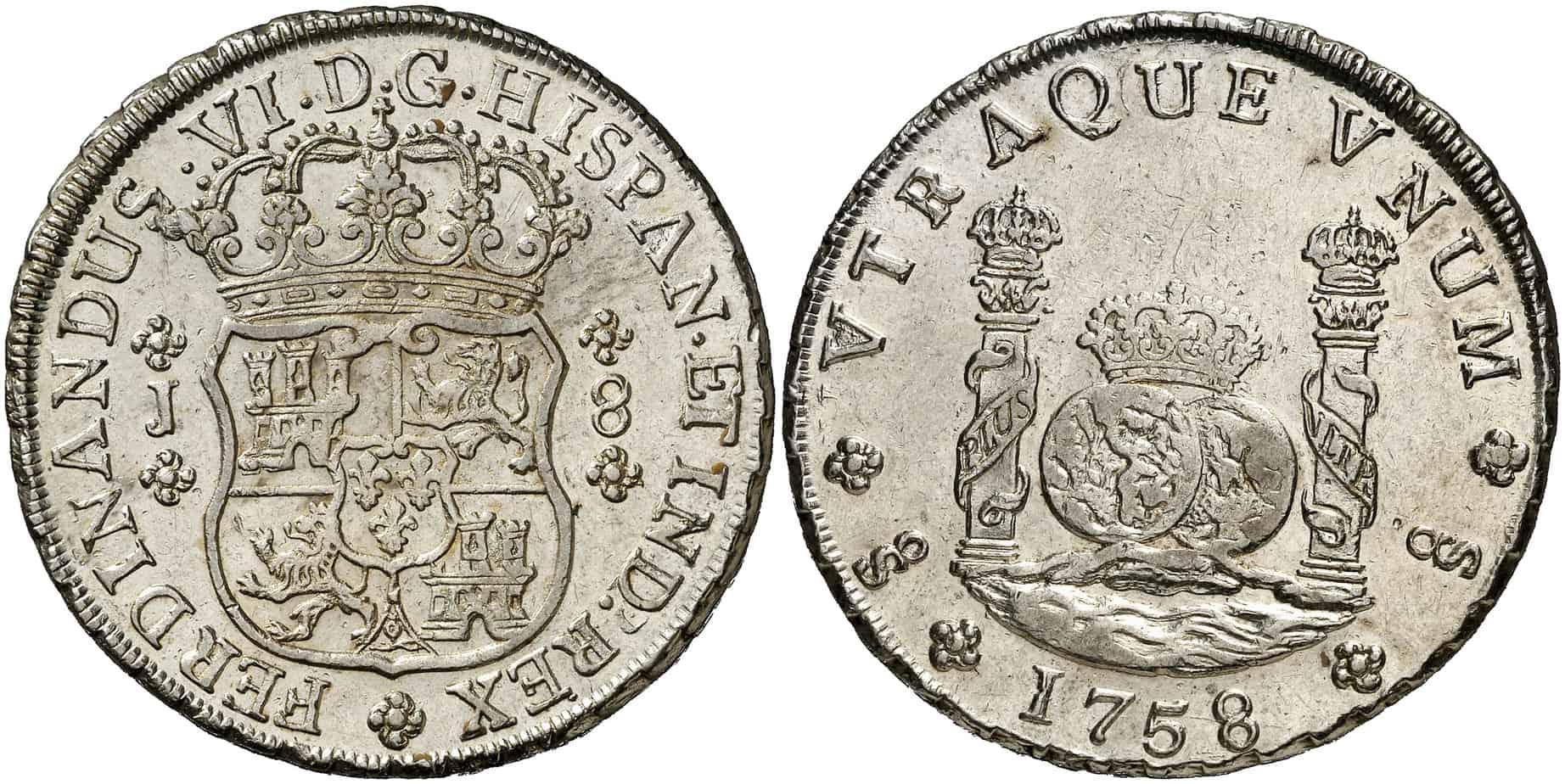 8 reales Santiago 1758