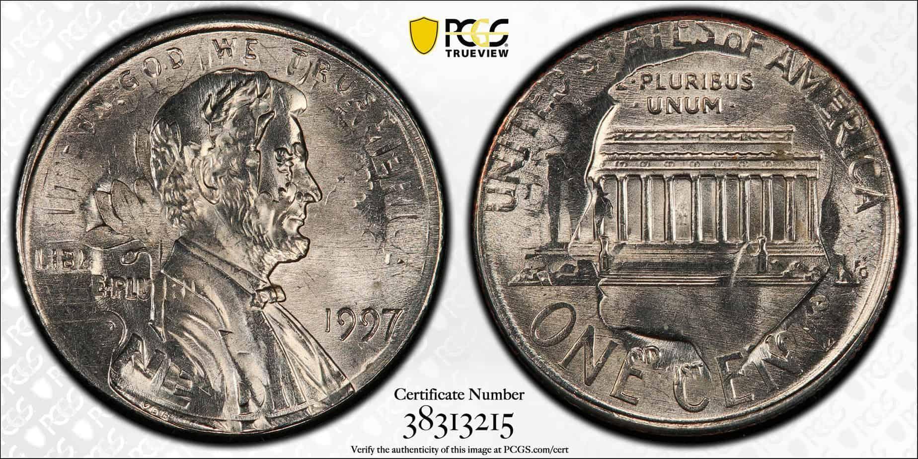 1 centavo doble denominación