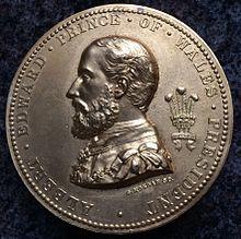 Medalla representando a Edward VII, 1875
