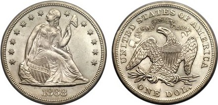 Dólar Libertad Sentada
