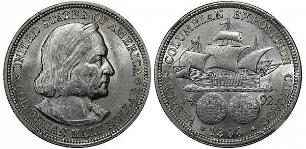 Medio dólar de la Exposición Colombina 1892