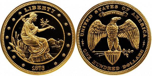 Propuesta de 100 dólares de oro de 1876