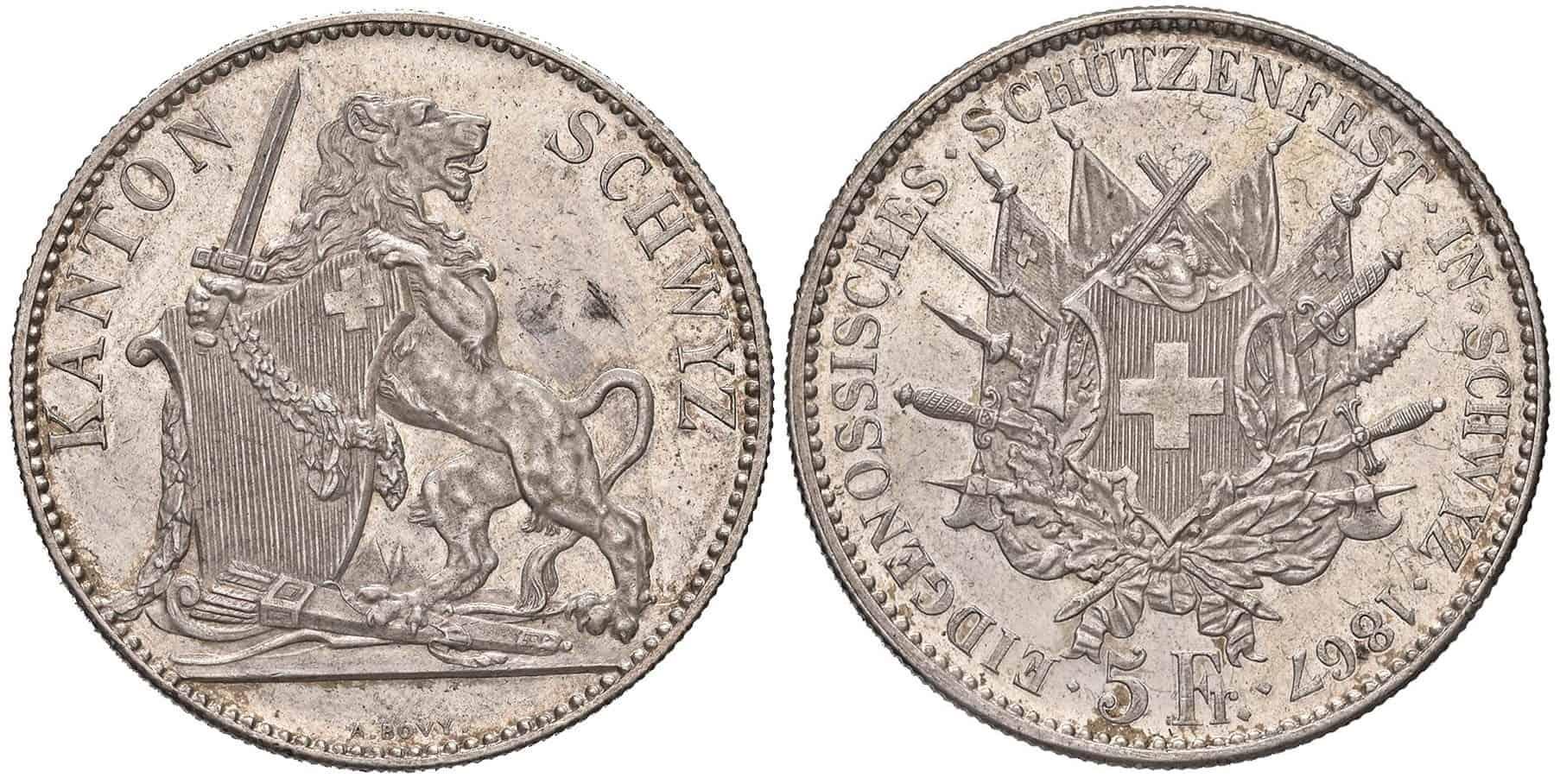 5 francos Suiza