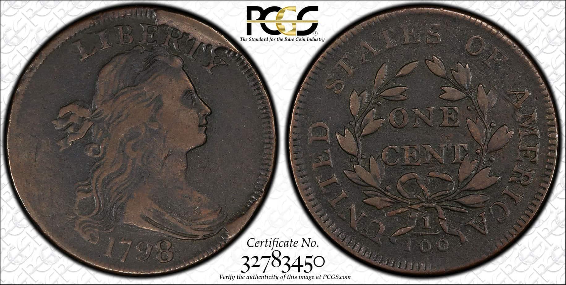 1 centavo 1798 S-148