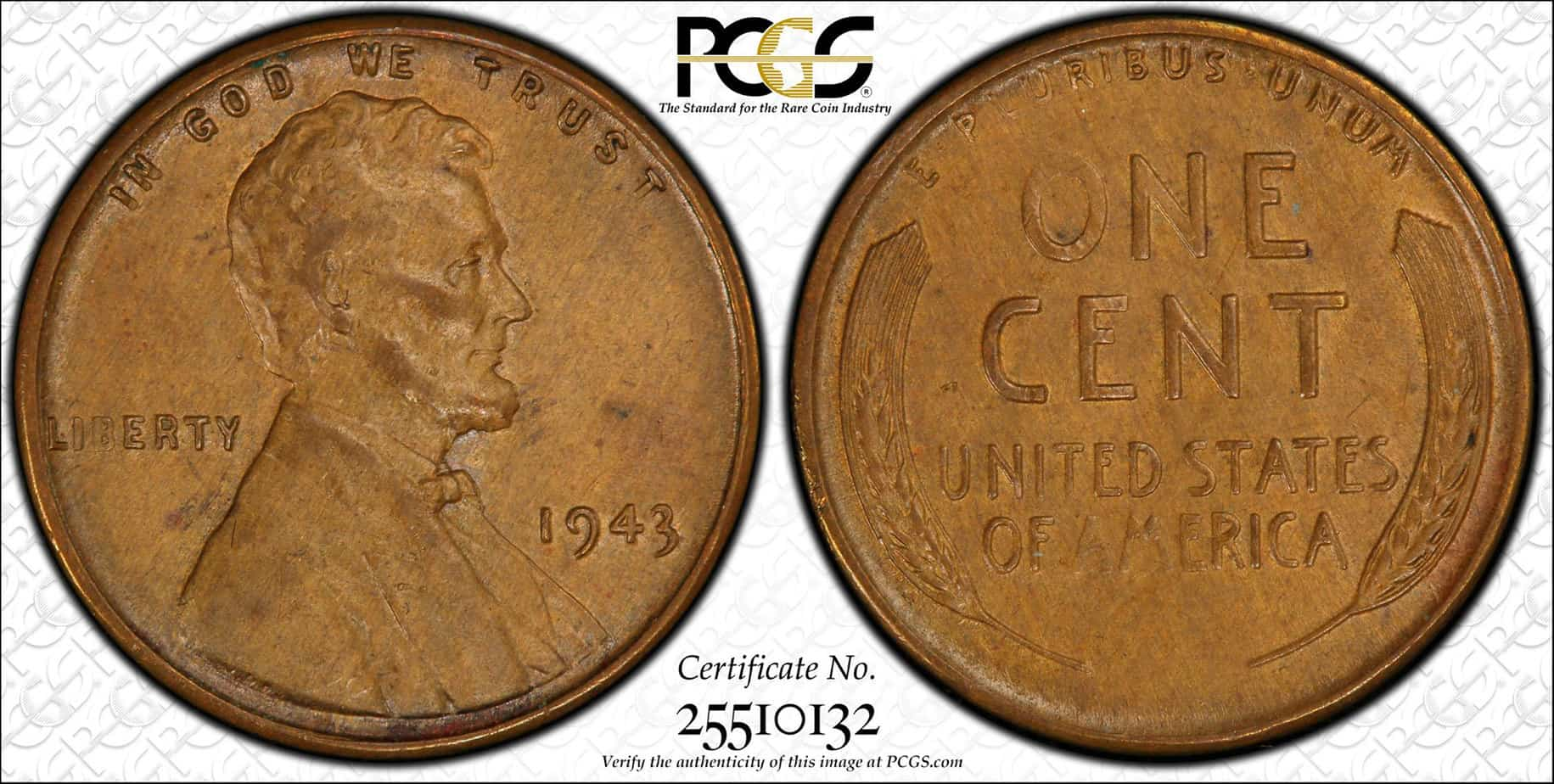 1 centavo 1943 bronce