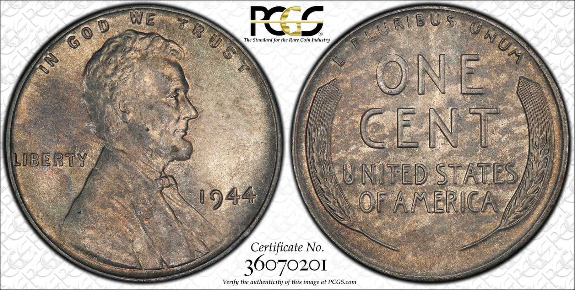 1 centavo 1944 acero