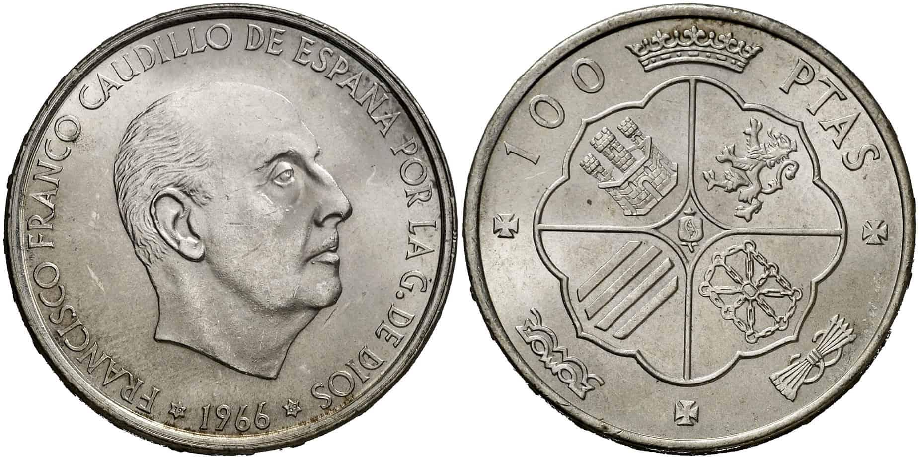 100 pesetas de Franco 1966: Precio y variantes