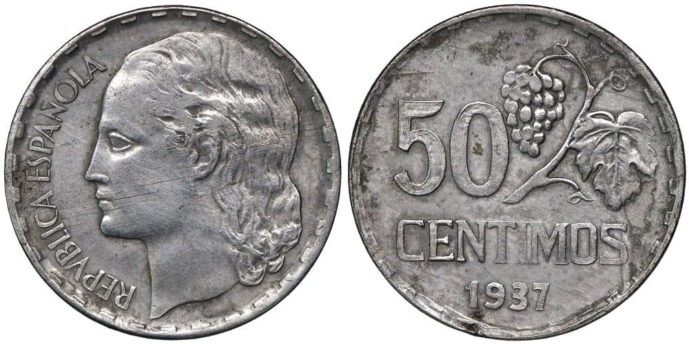 50 céntimos 1937 prueba
