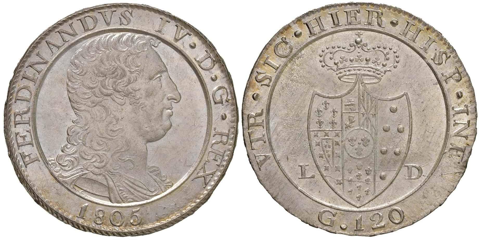 120 grana de 1805, Nápoles