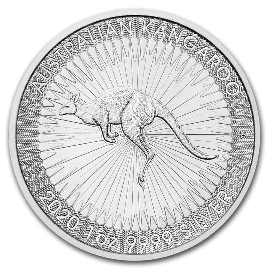Moneda plata, canguro 2020