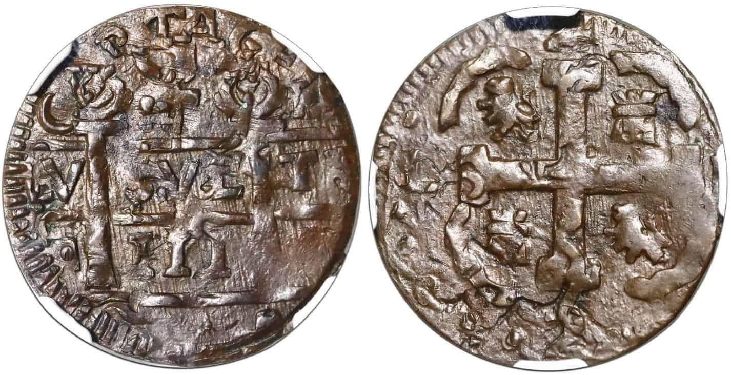2 reales de imitación, Cartagena (Colombia), fecha «111»