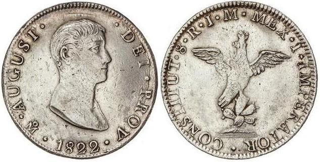8 reales 1822 de Agustín Iturbide, México