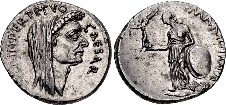 Las monedas de Julio César