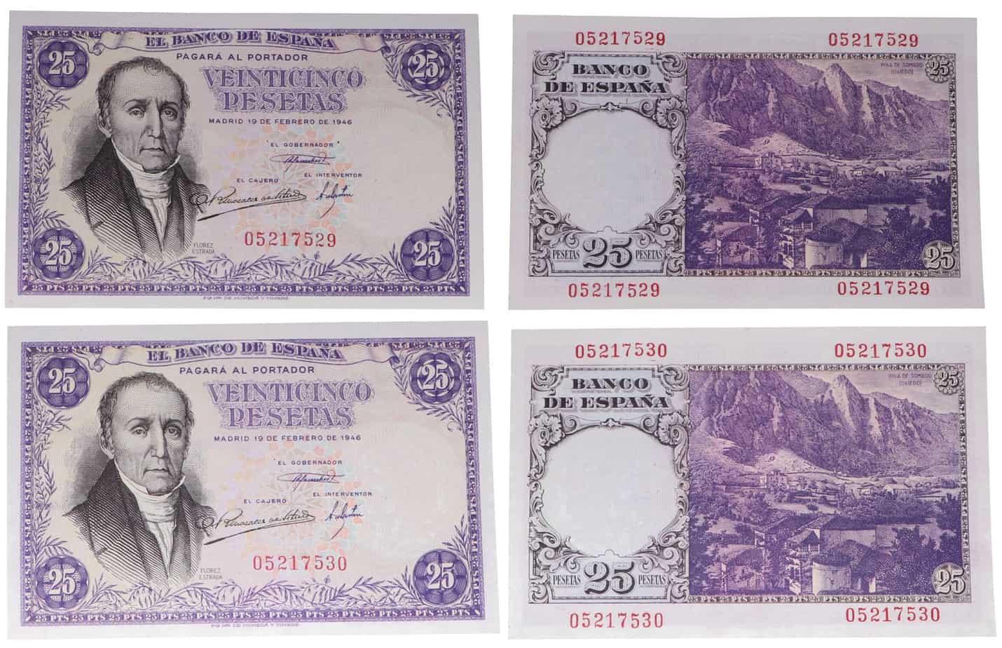 25 pesetas 1946 Flórez Estrada