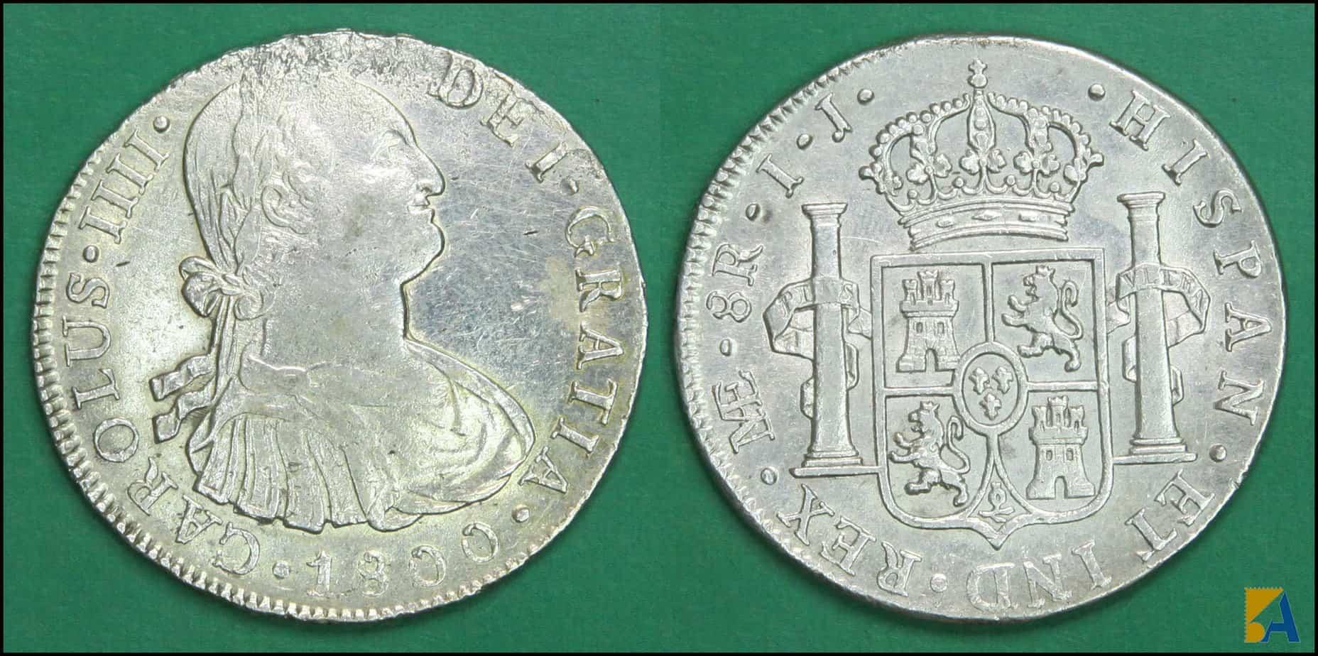 8 reales de Lima, 1800