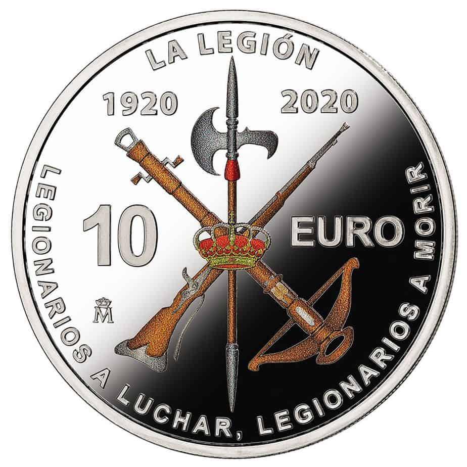 Moneda conmemorativa del 100º Aniversario de la Legión Española