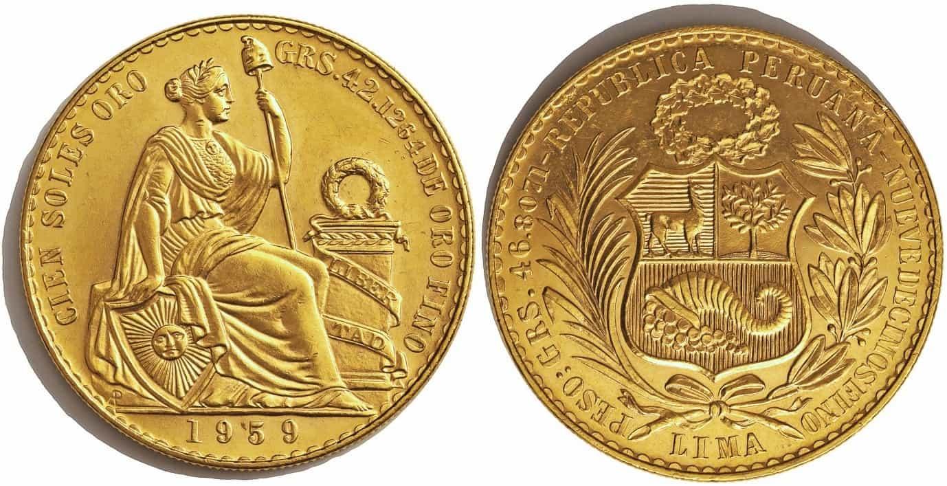 100 soles 1959, Perú