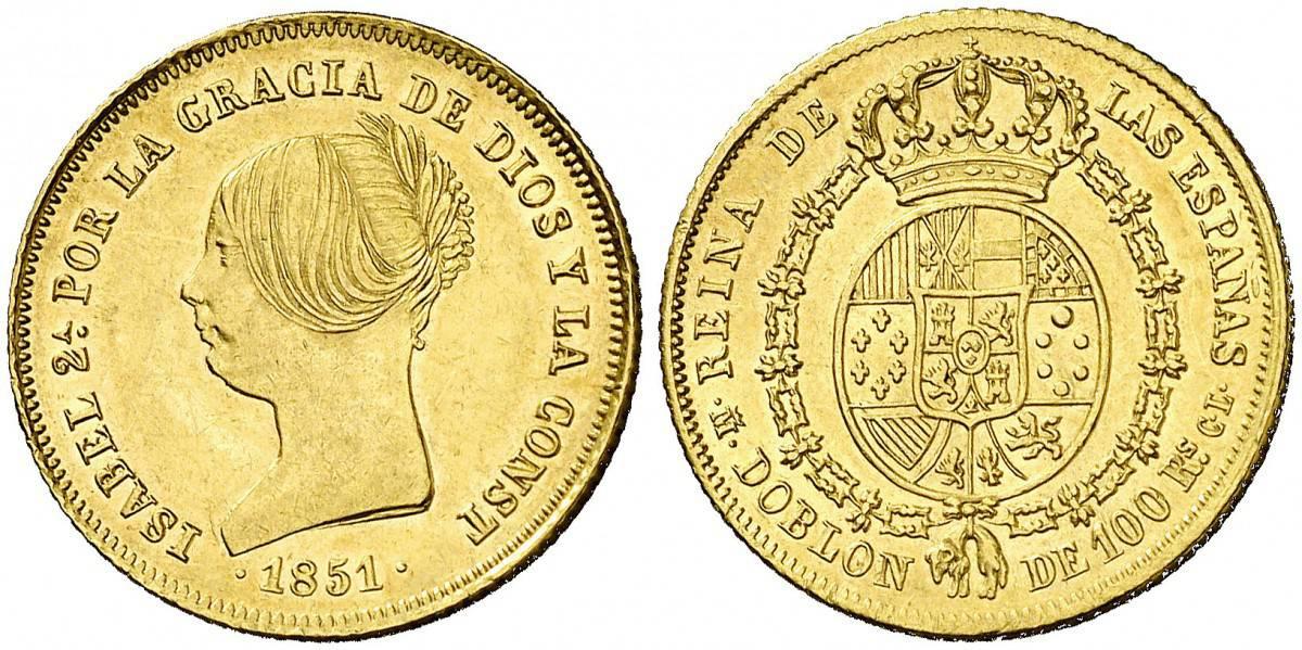 100 reales 1851