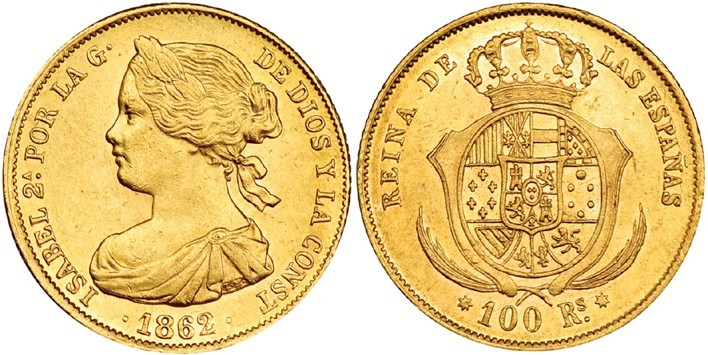 100 reales Sevilla 1862