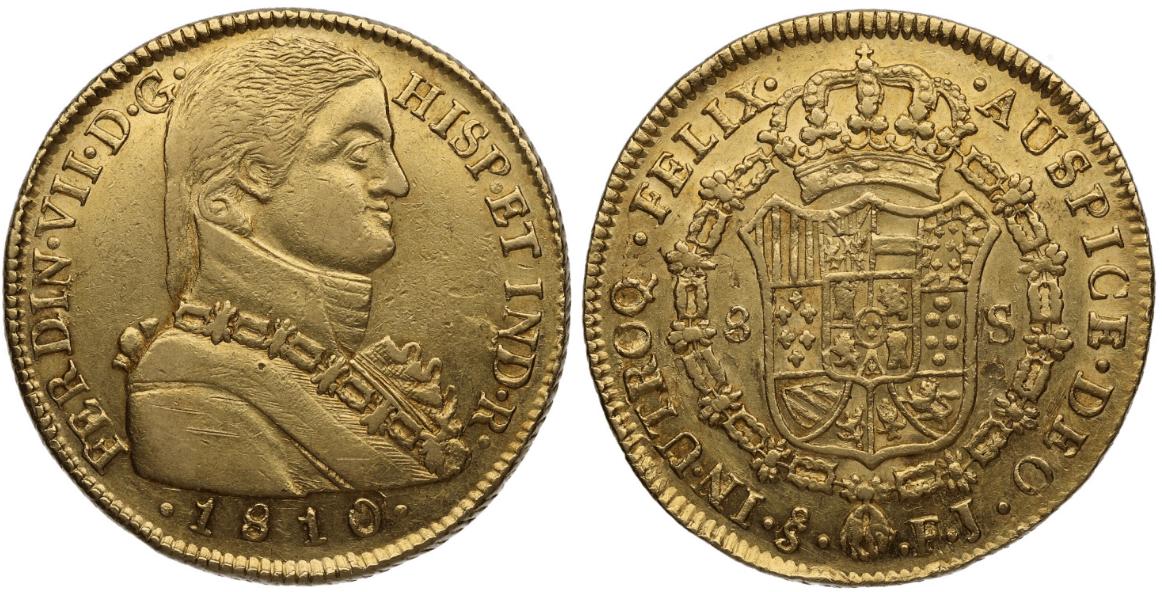 8 escudos Santiago, 1810