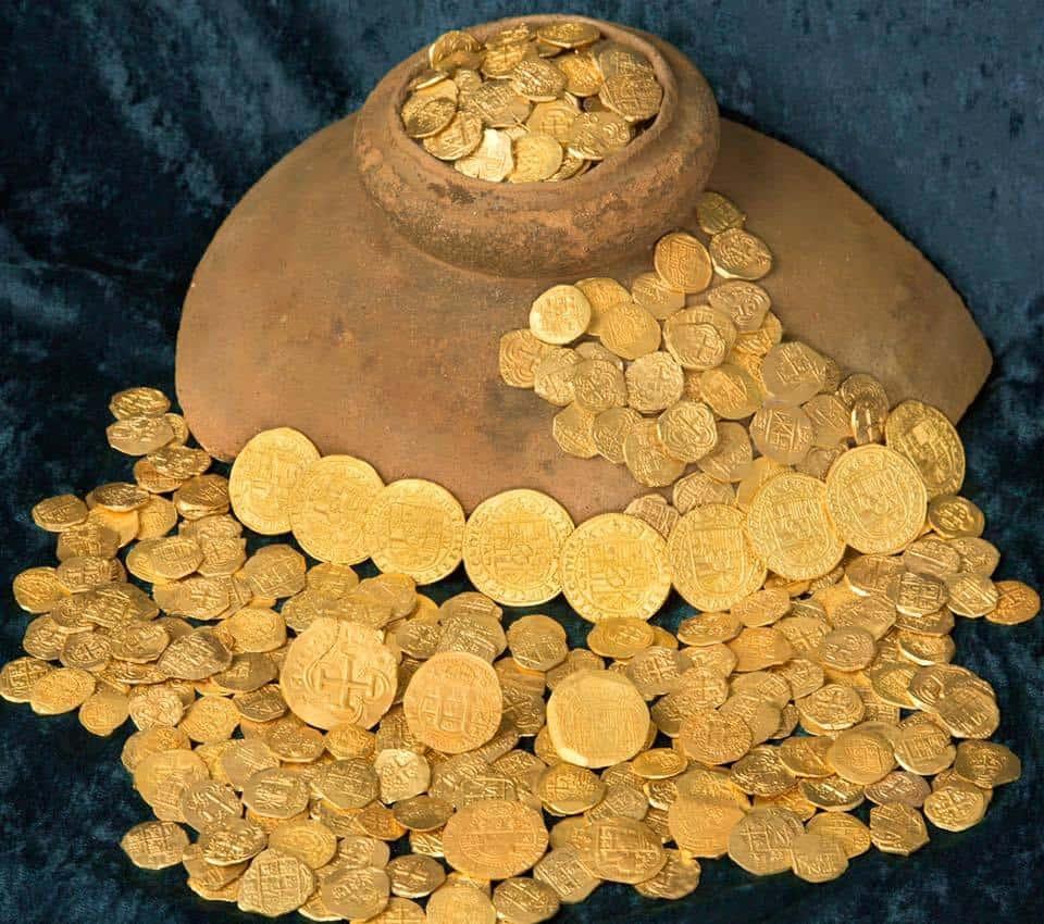 Monedas encontradas en Florida entre el 30 y el 31 de julio de 2015