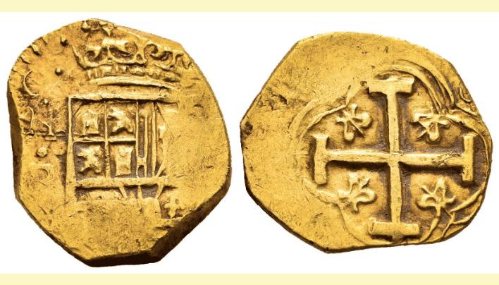 2 escudos de Felipe IV, Santa Fe de Nuevo Reino