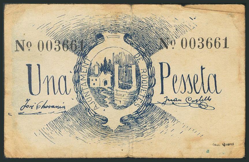 1 peseta Roquetes