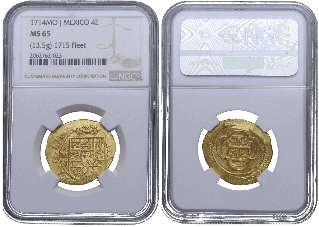 4 escudos 1714, México