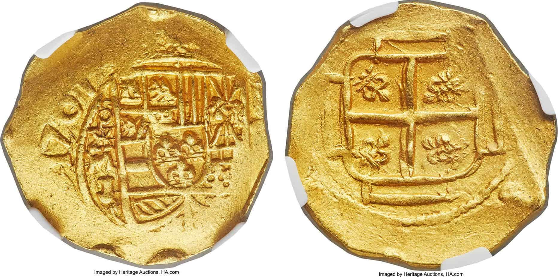4 escudos México 1707