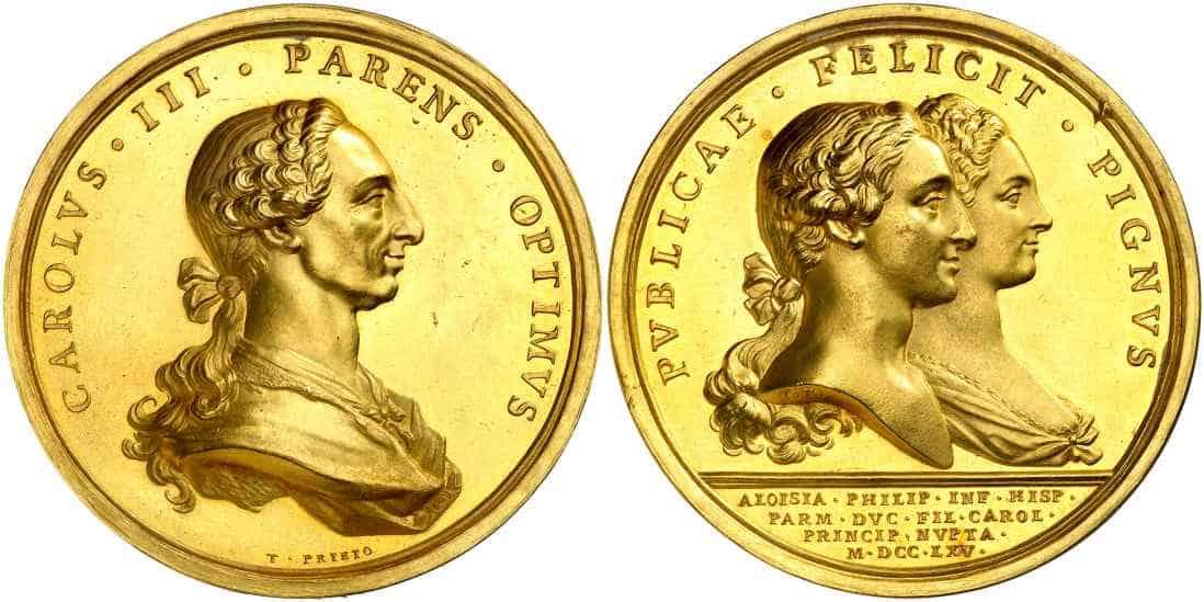 medalla boda de Carlos IV