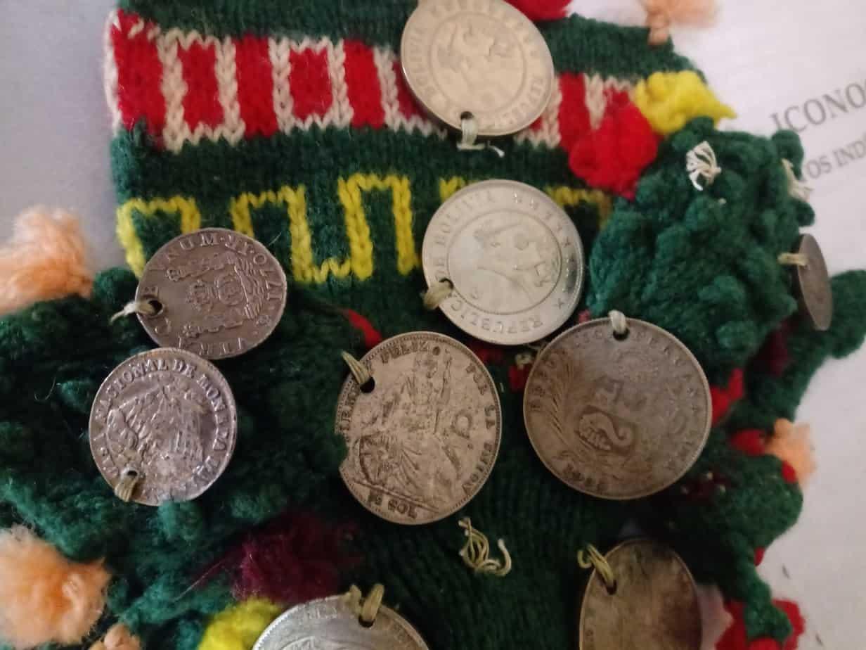 monedas agujereadas