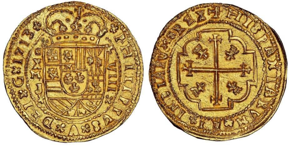 8 escudos 1713 galano