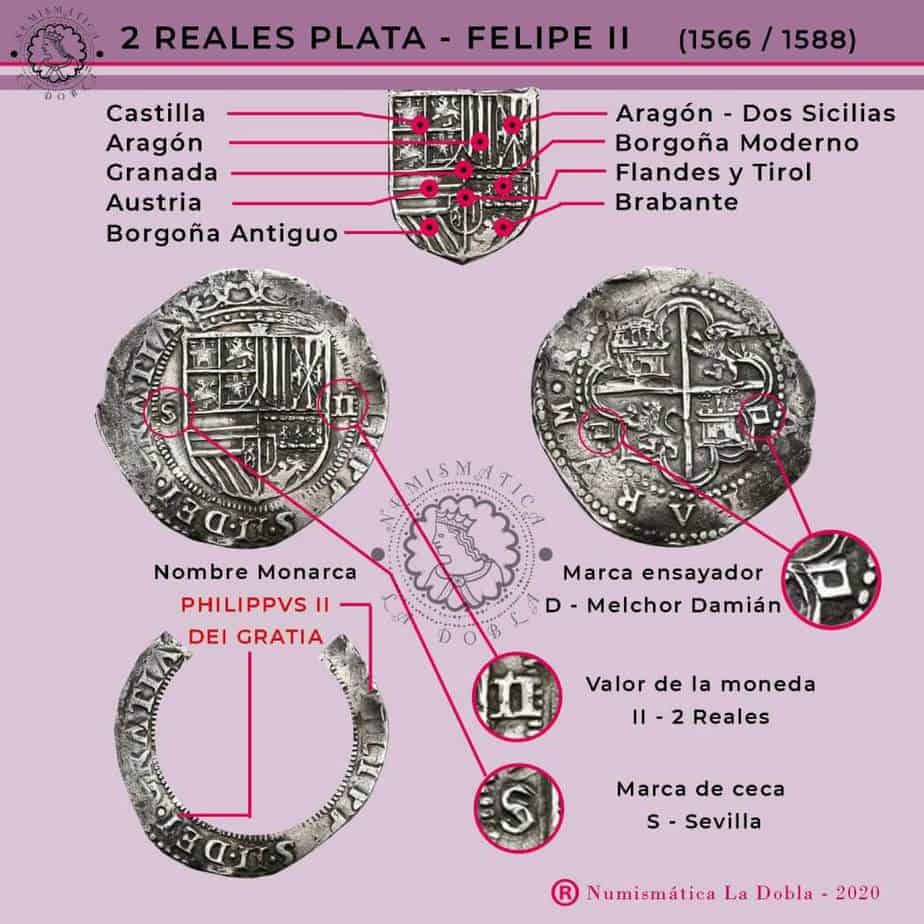 2 reales Felipe II Sevilla