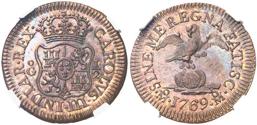 Medio grano, 1769 México