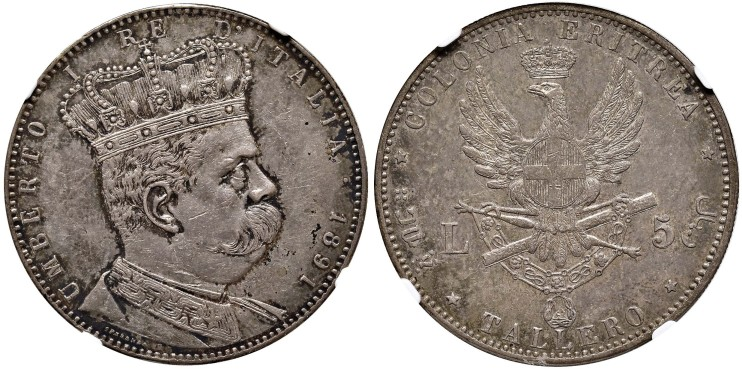 tálero Eritrea HUmberto I 1891