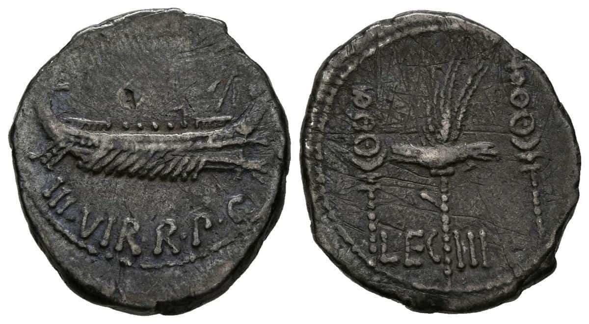 Denario Marco Antonio Legion III