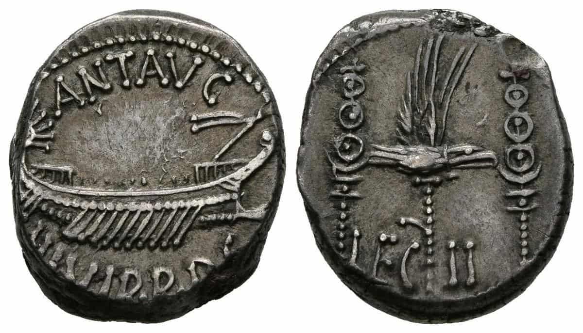 Los denarios de las legiones de Marco Antonio
