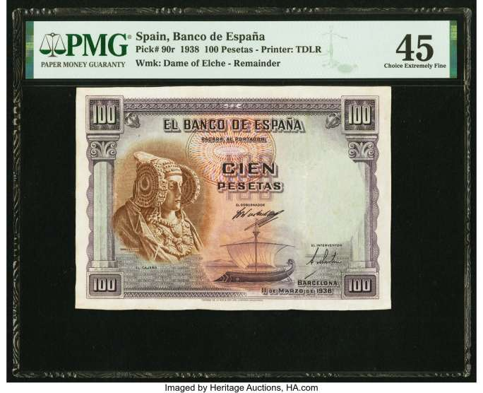 100 pesetas 1938