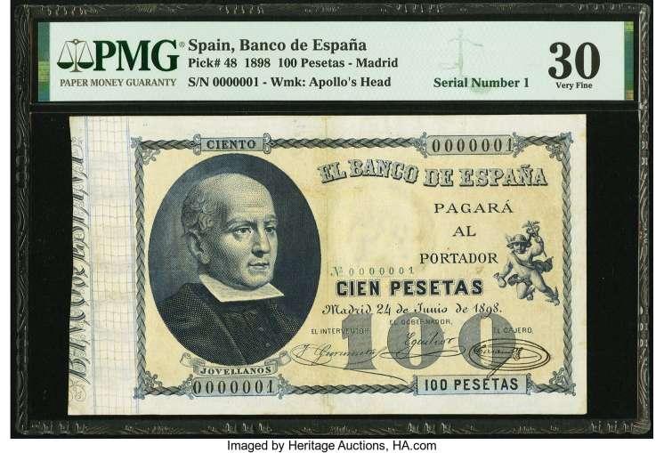 100 pesetas 1898