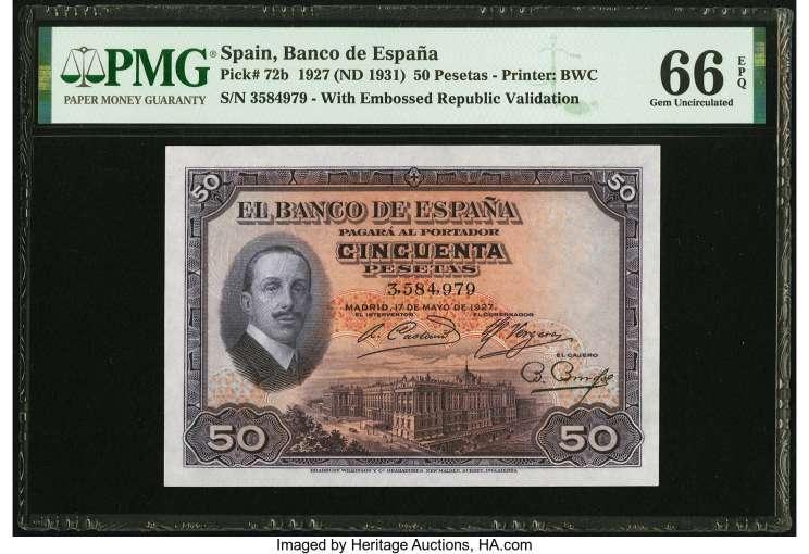 50 pesetas 1927